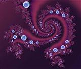 Marbleized Red Art Print