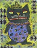 Black Cat Queen Art Print