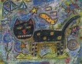 Funny Feline Art Print