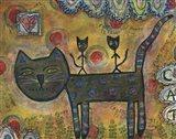 Kitty Kat Ride Art Print