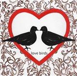 Love Birds Valetines Art Print