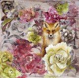 Hiding Fox Art Print