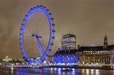 Blue Ferris Wheel Art Print