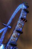 London Eye Lit up in Blue Art Print