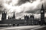 Houses of Parliament B/W Art Print