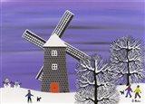 Winter Windmill Art Print