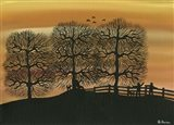 Silhouetted on the Hill Art Print