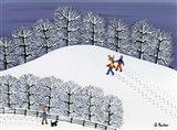 Snow Treck Art Print
