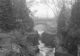 Bridge Over Rocks Black And White Art Print