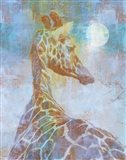 Africa Giraffe Art Print