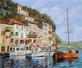 La Barca Rossa Alla Calata Art Print