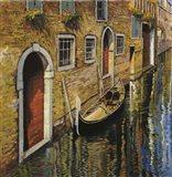 La Gondola Sul Canale Art Print