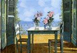 Le Rose E Il Balcone Art Print