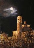 La Luna a Cherasco Art Print