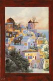 Dalla Finestra Il Mulino A Santorini Art Print