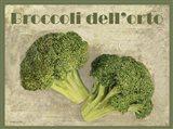 Broccoli Dell'orto Art Print