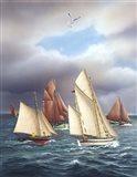Sailing Oldtimers Art Print