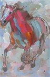 Red Runner Art Print