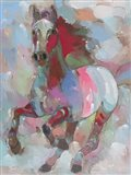 Fiery Stallion Art Print