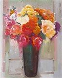 Flowers at the Window Art Print