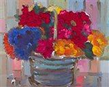 Basket of Flowers II Art Print