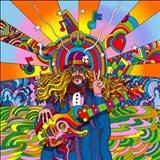 Hippie Musician Art Print