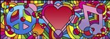 Peace Love Music A Art Print