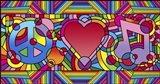 Peace Love Music B Art Print