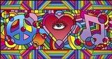 Peace Love Music C Art Print