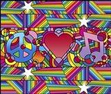 Peace Love Music D Art Print