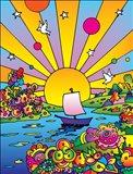 Cosmic Boat Color Art Print