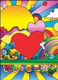 Cosmic Heart Landscape Art Print