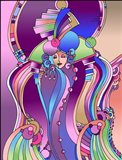 Art Deco Lady Bird Art Print