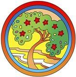 Circle-Tree Art Print