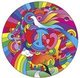 Peace Love Music Circle Art Print
