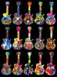 Pop Art Guitars Art Print