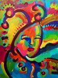 Mardigras Lady 3 Art Print