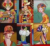 Art Deco Ladies 8 Art Print