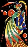 Art Deco Lady 4 Art Print