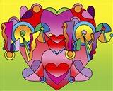 Love Color Heart Art Print