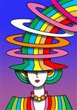 Lady Rainbow Hat Art Print