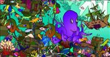 Underwater Octopus Art Print