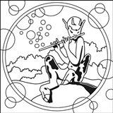 Pop Art Pan Circle Art Print