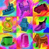 Pop Art Monopoly Pieces Art Print