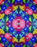 Pop Art Flowers Kalidescope Art Print
