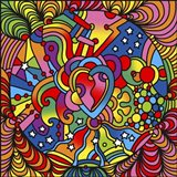Pop Art Heart Swirls Art Print