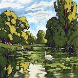 Pop London Landscape Gardens Art Print