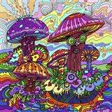 Pop Art - Mushrooms Art Print