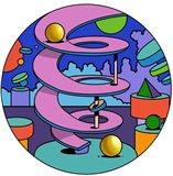 Pink Ramp Circle Art Print