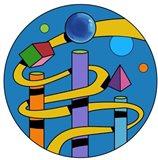 Yellow Ramp Circle Art Print